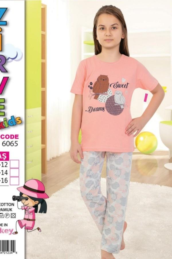 Toptan Zirve Kız Çocuk Kapri Pijama Takımı